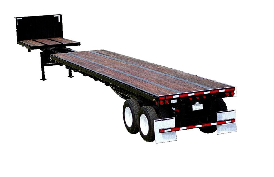 48'-80' Extendable Flatbed Trailer