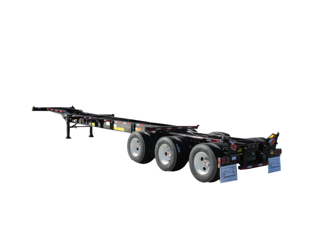 20'-40'-45' Heavy-Duty 12-pin chassis with flip-up rear twist-locks
