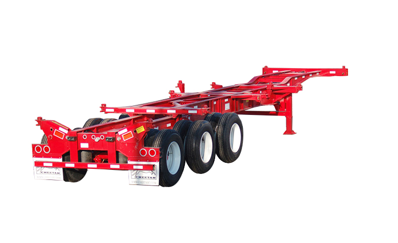 20'-40' Heavy-Duty 12-pin Chassis with flip-up rear twist-locks