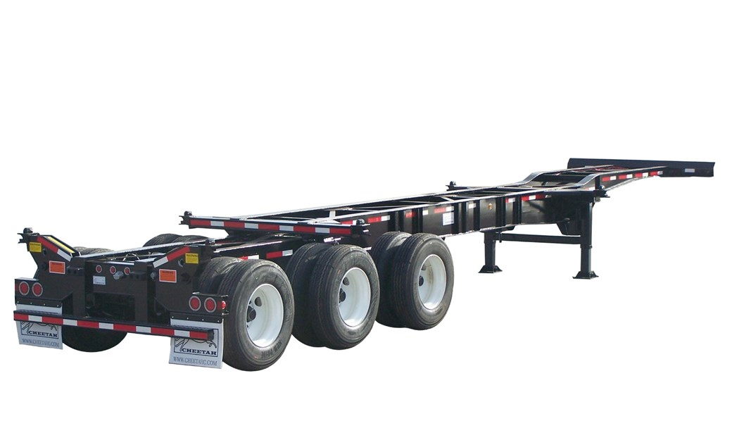 20'-40' Heavy-Duty 8-Pin Chassis with flip-up rear twist-locks